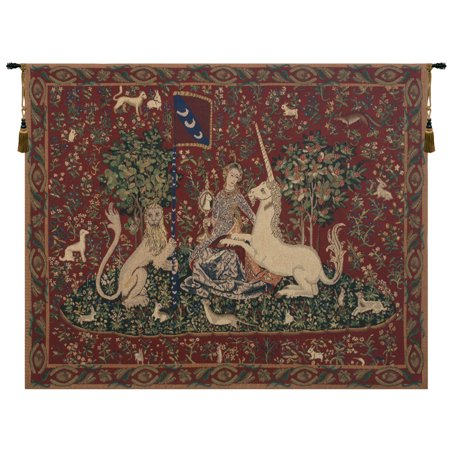 Lady and the Mirror (with Border) Tapestry Wholesale - A - H 34 x W 44 - image 1 of 1