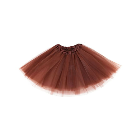 Womens Ballerina Tutu Adult Halloween Costume Accessory,Coffee (Womens Adult Halloween Costume)