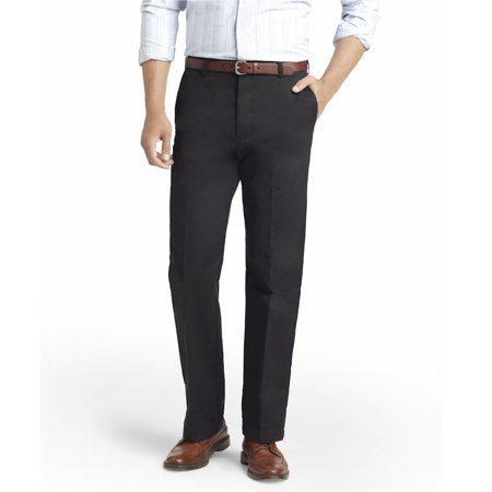 Black Chino Pants - Izod Men's American Chino Flat Iron Straight Black Pant