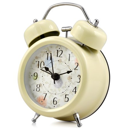 3'' Farm Vintage Metal Twin Bell Alarm Clock With Light for (Fart Alarm)