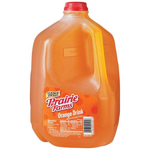 Prairie Farms Orange Drink, 1 Gallon