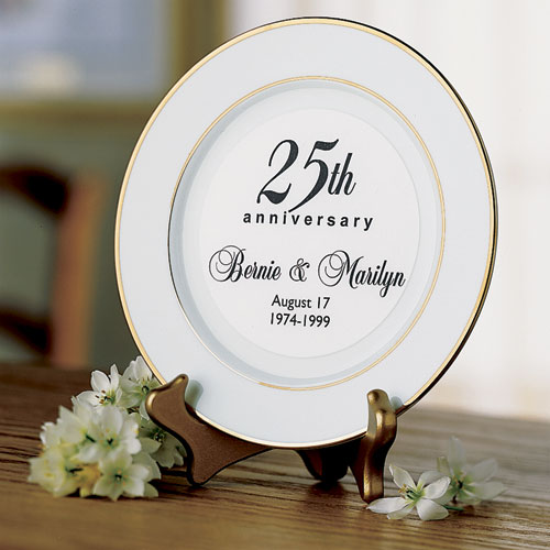 Personalized Anniversary Keepsake Plate