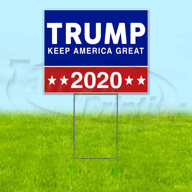 "Veterans for Trump 2020 Yard Sign 12/""x24/"""