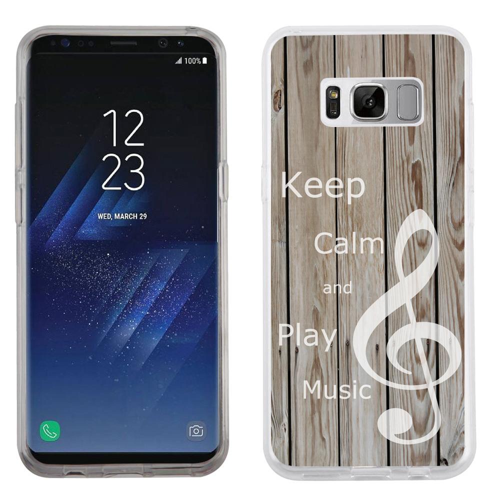 Fit Galaxy S8 PLUS, OneToughShield ® Slim-Fit Premium TPU Gel Phone Case for Samsung Galaxy S8+ / S8 PLUS - Wood/Music