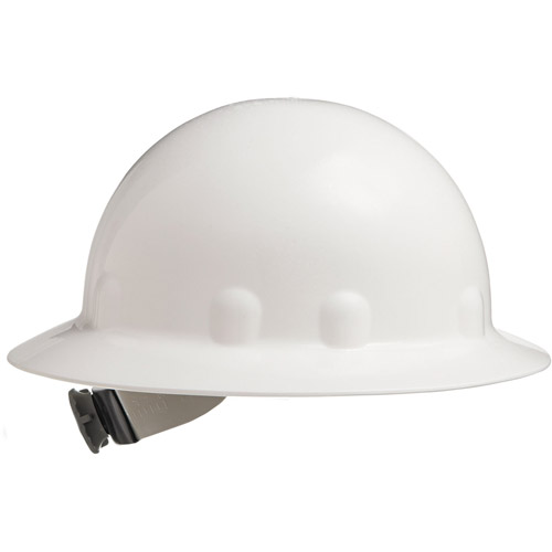 Fibre-Metal by Honeywell E-1 Full Brim Hard Hat With Ratchet Suspension, White