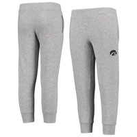 Youth Russell Athletic Heathered Gray Iowa Hawkeyes Tri-Blend Fleece Jogger Pants