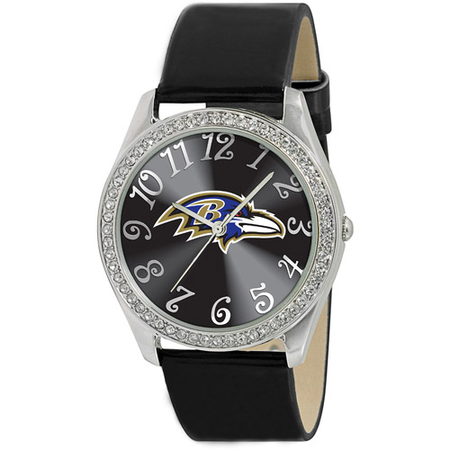 Game Time NFL Women's Baltimore Ravens Glitz Watch, Black