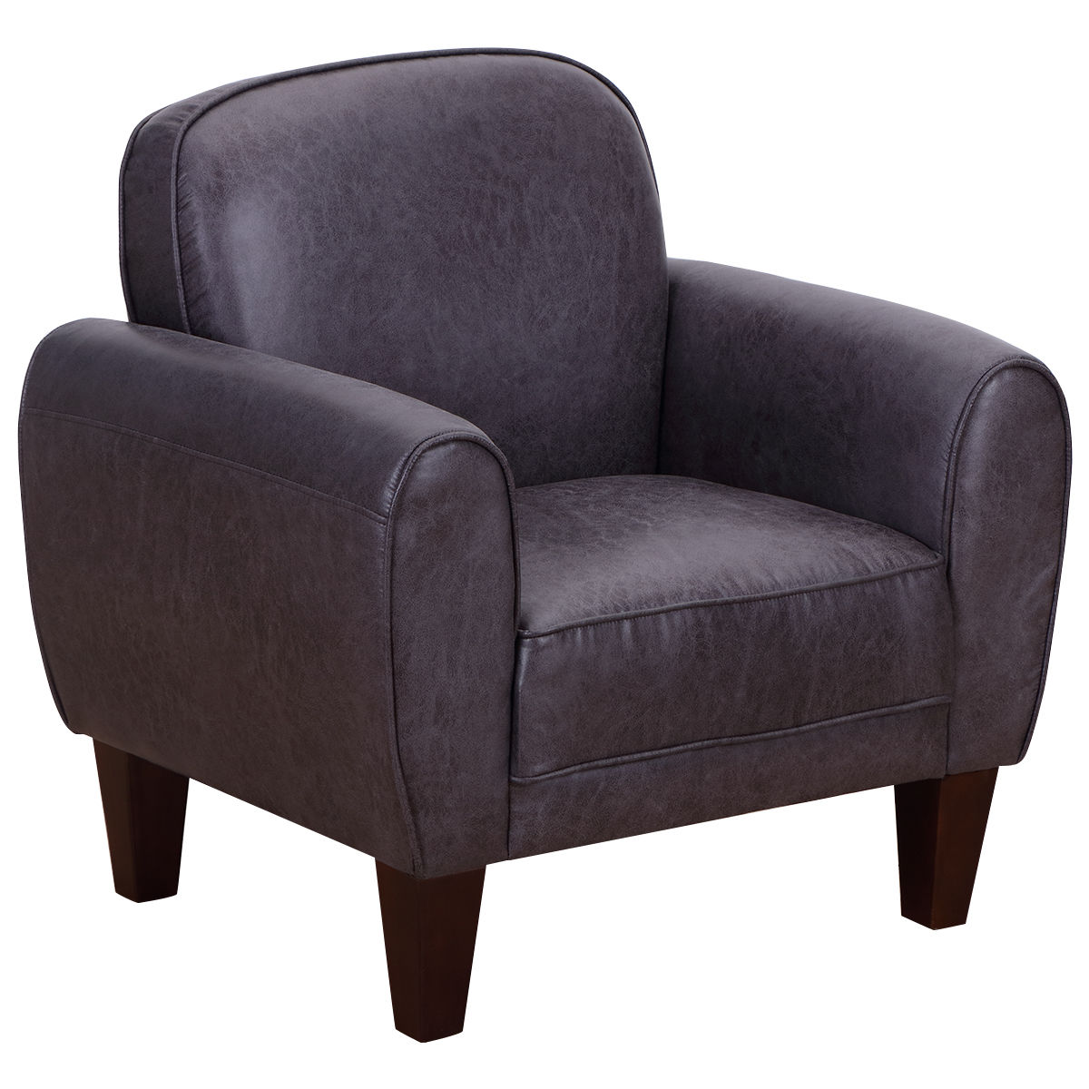 Costway Single Sofa Leisure Arm Chair Accent Upholstered Living Room Office Furniture