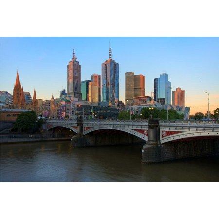 Framed Art for Your Wall Melbourne Skyline Australia Victoria Yarra Cool 10 x 13 (Cool Frames Australia)