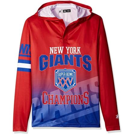 NFL New York Giants Super Bowl XXV Champions Hoody Tee 5385a9b89