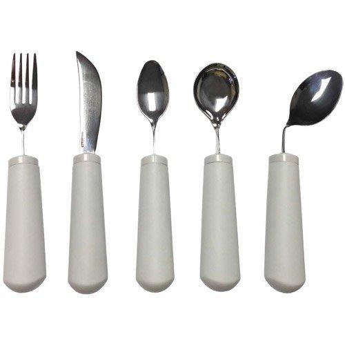 Kinsman Classic Bendable Non Weighted Utensil Set of 4 (Fork, Knife, Teaspoon, Soup Spoon)