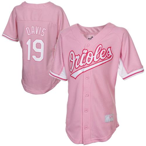 Chris Davis Baltimore Orioles Majestic Youth Girl's Harvey Batting Practice Jersey - Pink