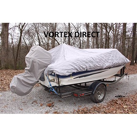 Vortex grey gray 600d marine grade outboard motor cover for Boat motor cover walmart