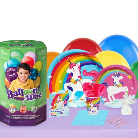 Fairytale Unicorn Party 16 Guest Party Pack and Helium Kit - Helium Container