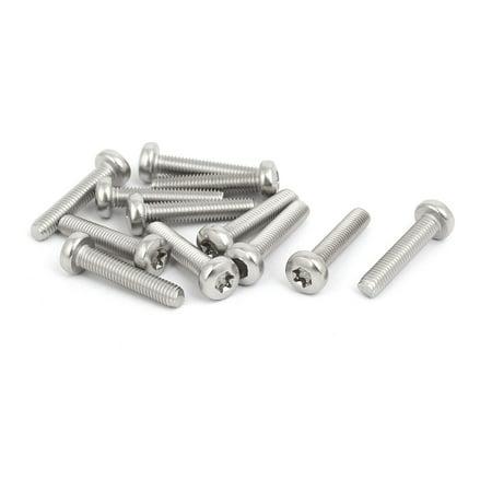 M5x25mm 316 Stainless Steel Pan Head Torx Socket Cap Security Screw 12pcs - image 3 of 3