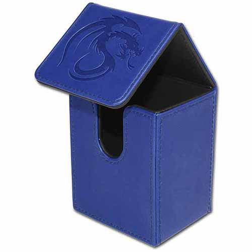 BCW Padded Leatherette Deck Case LX, Blue