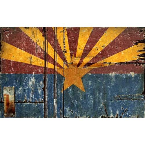 Vintage Signs Arizona Flag Wall D cor