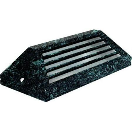 Dabmar Lighting LV608-VG Cast Aluminum Surface Mount Louvered Brick, Step, Wall & Deck Light, Verde Green - 4 x 7.25 x 2.25 in.