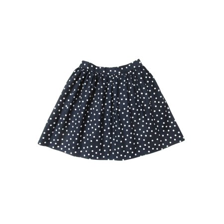 Sophie Catalou Little Girls Navy White Polka Dot Pattern Circle - Navy And White Polka Dot Skirt
