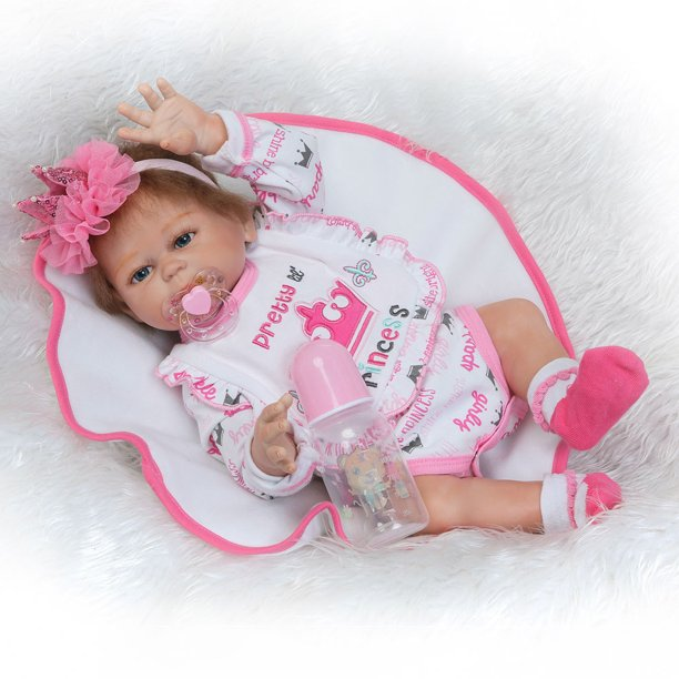 "Baby Dolls for Girls, 20"" Silicone Dolls Reborn with ..."