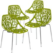 Edgemod Birds Nest Dining Side Chair in Green (Set of 4)