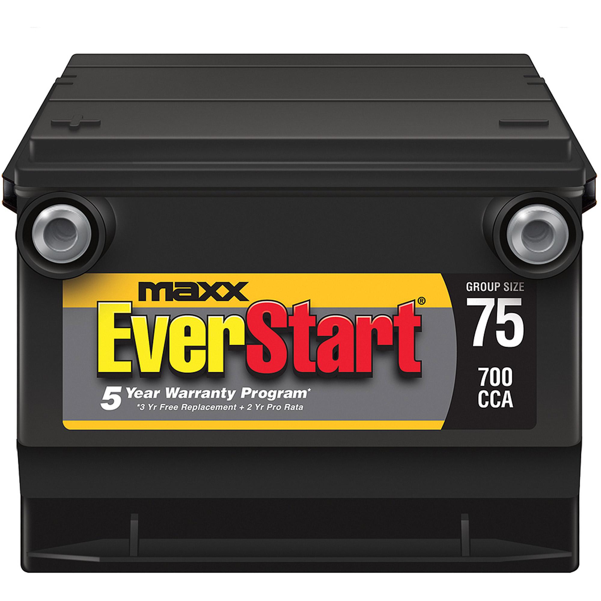 EverStart Maxx Lead Acid Automotive Battery Group 75n Walmart
