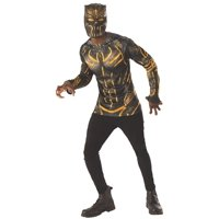 Marvel Black Panther Movie Erik Killmonger Adult Costume Top & Mask