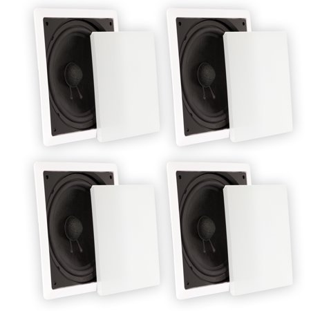 Theater Solutions TS1000 Passive 10″ Home Theater In Wall Subwoofers 4 Sub Set
