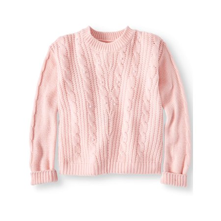 Pink Angel Pearl Cable Knit Sweater (Little Girls & Big Girls) ()