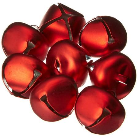 Darice Matte Red Metal 25mm (approx 1inch) Jingle Bells (Jiggle Bells)