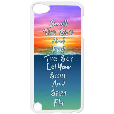 Let Your Soul And Spirit Fly Hard White Plastic Case Compatible with the Apple iPod Touch 4th Generation - iTouch 4 Universal (Make Your Case For Ipod 4)
