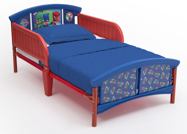 Picture of: Delta Children Pj Masks Plastic Toddler Bed Red And Blue Walmart Com Walmart Com