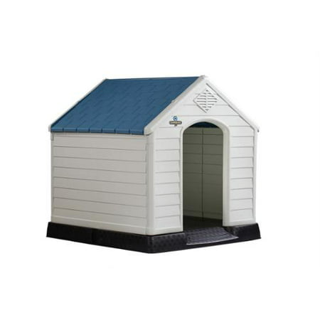 Dog House Blind - Confidence Pet XL Waterproof Plastic Dog Kennel Outdoor Winter House EXTRA LARGE
