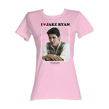 I Love Jake Ryan Sixteen Candles Womens T-Shirt 16 Movie 80's <3 Photo Adult