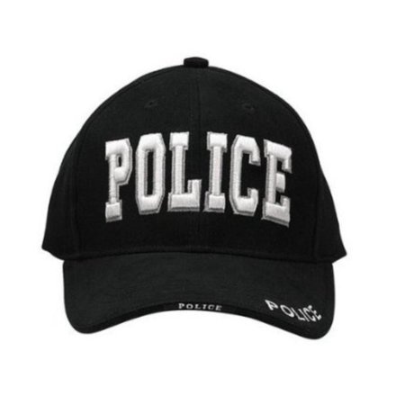 Mens Baseball Cap - Police Deluxe Low Profile, Black by, 100% BRUSHED COTTON TWILL By (Deluxe Cotton Cap)