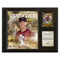 C&I Collectables MLB 12x15 Craig Biggio Houston Astros Player Plaque