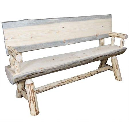 Montana Woodworks Montana Half Log Bench ()