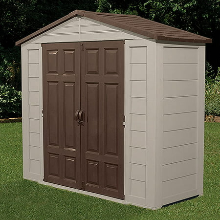 Suncast 7 5 39 x 3 39 outdoor storage building shed shop for Garden shed 4 x 3