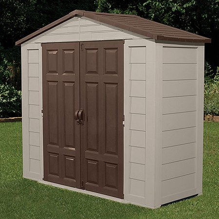 Suncast 7 5 39 x 3 39 outdoor storage building shed for Garden shed 5 x 4