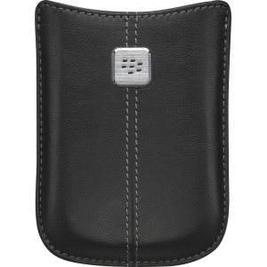 OEM Blackberry 8900 Leather Pocket Case - Black