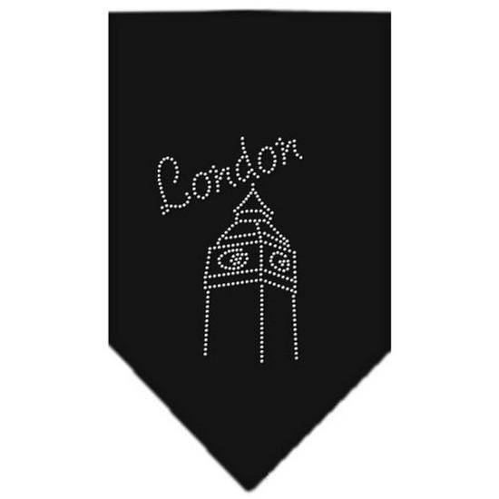 London Rhinestone Bandana Black Large