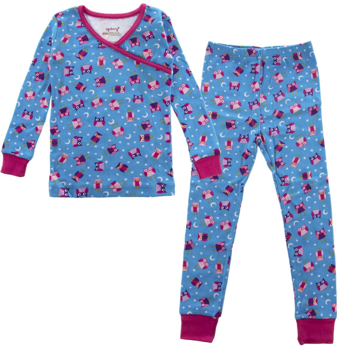 d132af6f9 PLove Kids Two-Piece Organic Cotton Pajamas Little Girls Toddler ...