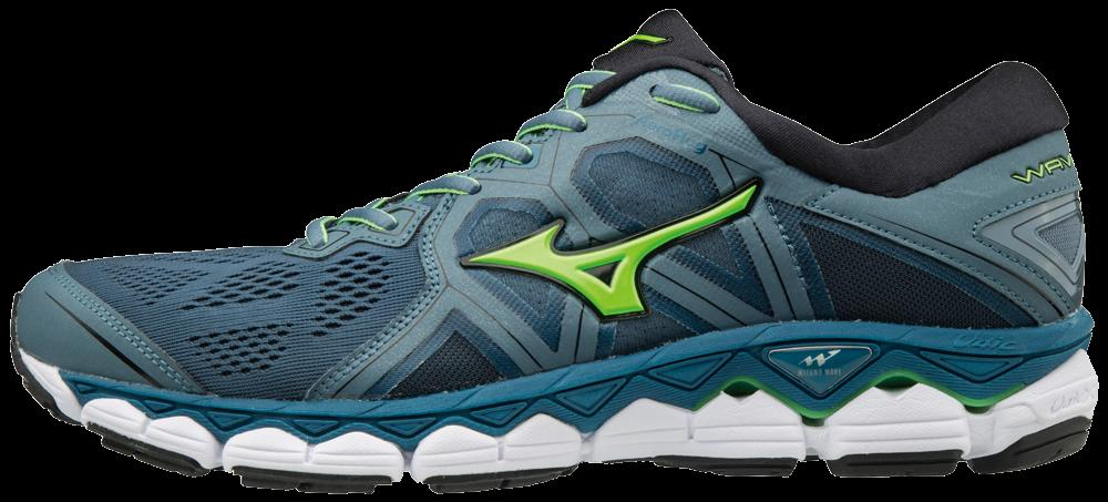 Mizuno Mens Wave Sky 2 Running Shoes Trainers Sneakers Black Sports Breathable