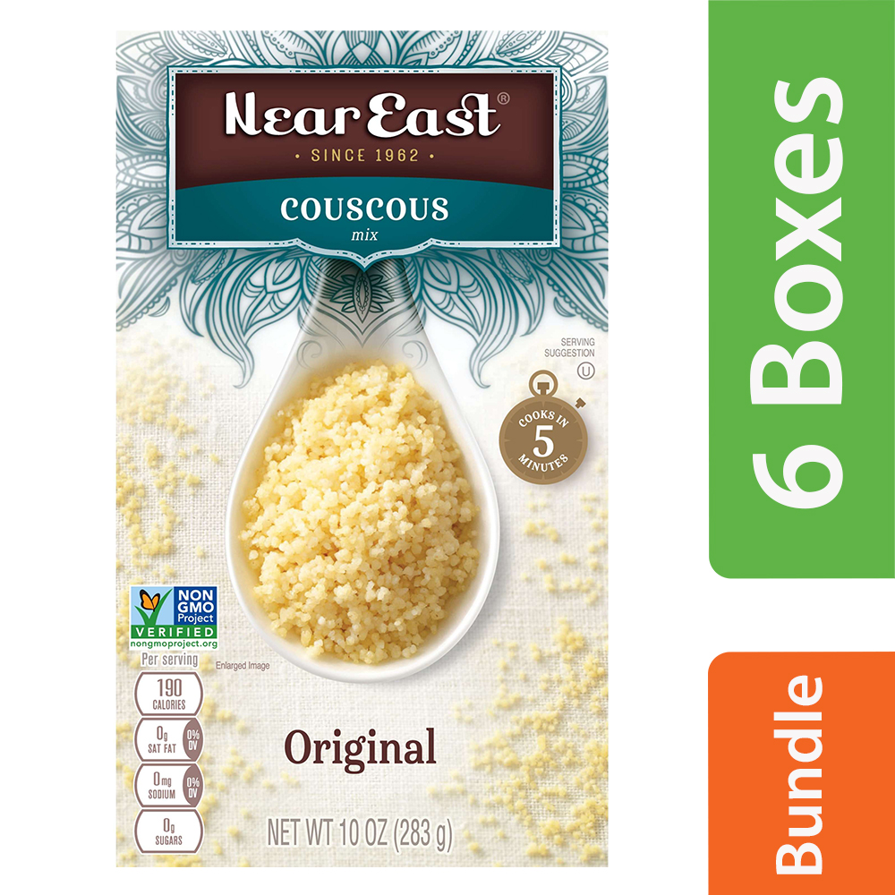 Near East Couscous Mix, Original Plain, 10 oz Box (6 Packs)