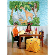 Brewster Round the World 259-72001 Pre-pasted Die Cut Wall Mural Baby Animals, 72-Inch Height x 84.5-Inch Width