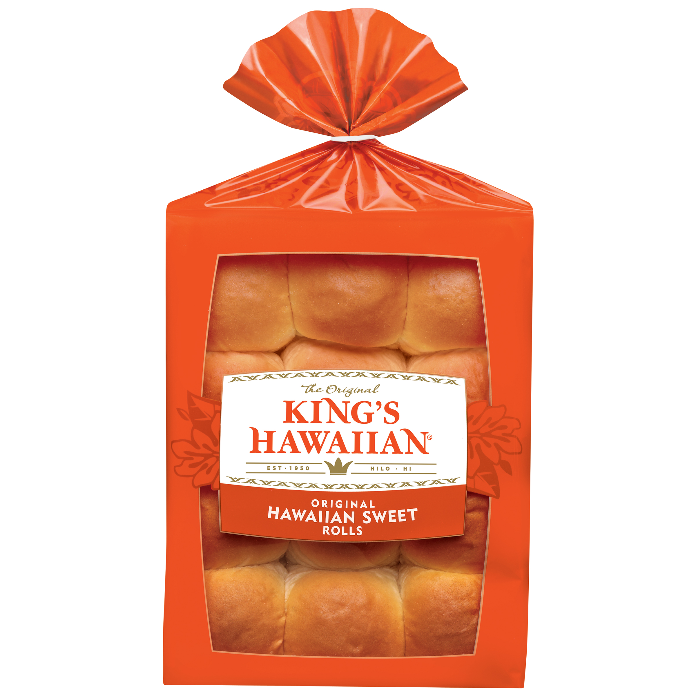 King's Hawaiian Original Hawaiian Sweet Rolls 12 ct Bag