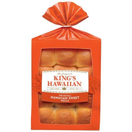 King S Hawaiian Original Hawaiian Sweet Rolls 12 Ct Bag