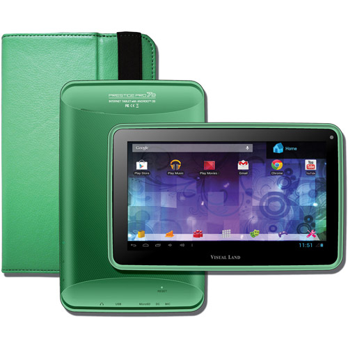 "Visual Land Prestige 7"" Dual Core Tablet 8GB includes Tablet Case"