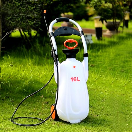 Moaere 3.2/4.2 Gallon Lawn and Garden Pump Pressure Handcart Sprayer for Herbicides Pesticides Fertilizers Mild Cleaning Solutions and (Best Pump Sprayer For Stain)