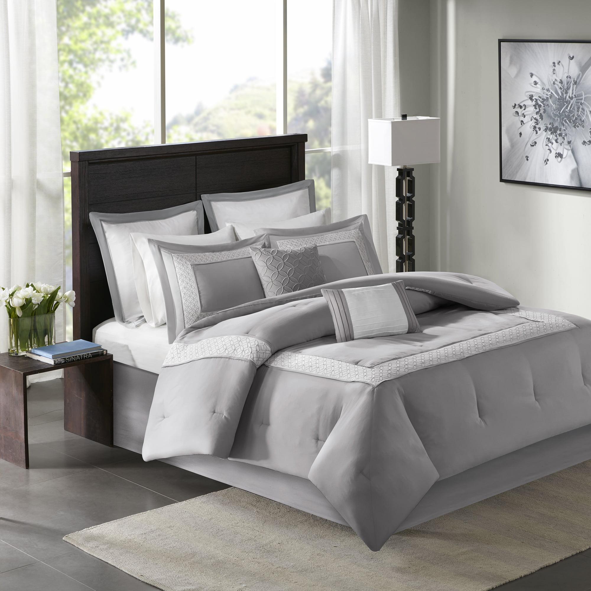Home Essence Heritage 8 Piece Comforter Bedding Set with Bedskirt